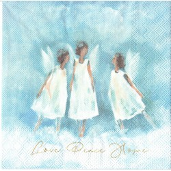 ***serwetka 25*25 DZ31 love-peace-hope
