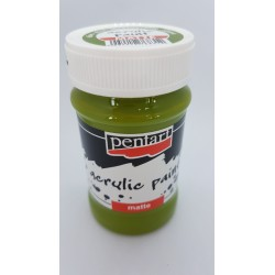 ***pentart farba akrylowa 100 ml oliwka
