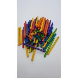 ***patyczki drewniane kolor 6cm*4 mm/100szt