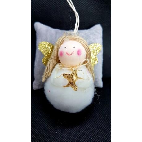 ***zawieszka aniołek biały ze skrzydłami
