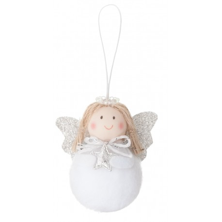 ***zawieszka aniołek biały z aurolką