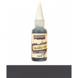 Pentart tusz media ink 20ml czarny