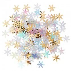 ***cekiny śnieżynki złote,białe... 15 g