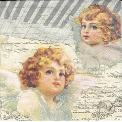 ***serwetka 33*33 DZ33 aniołki,pismo