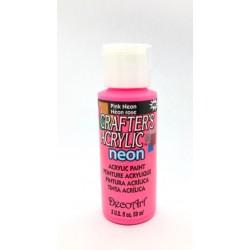 ***farba akrylowa decoart 59ml róż neon DCA128