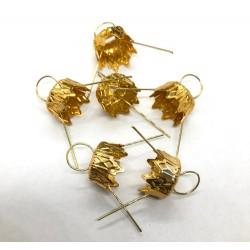 zawieszki złoto 10mm/7szt