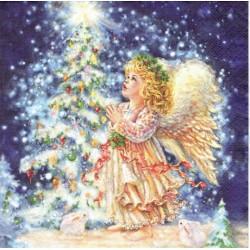 ***serwetki 33*33 DZ36 aniołek z choinką