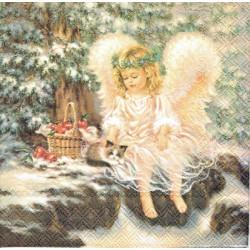 ***serwetki 33*33 DZ35 aniołek z koszykiem