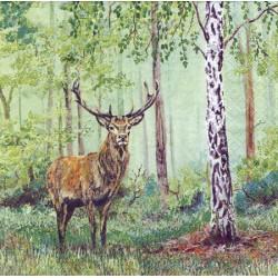 ***serwetki 33*33 Z69 jeleń w lesie