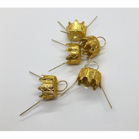 zawieszki złoto 14mm/5szt