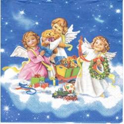 serwetka 33x33 BN263 chór aniołków