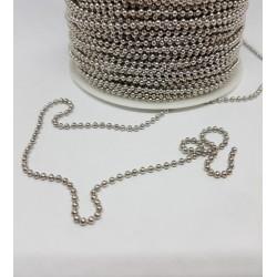 łańcuszek srebrny kulkowy 2mm-cena za 1m