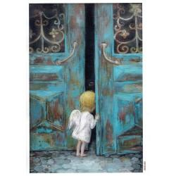 ***papier cienki A-4 2165 aniołek drzwi