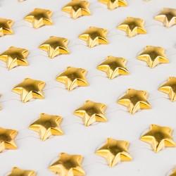 *** gwiazdki samop. 1cm złoto