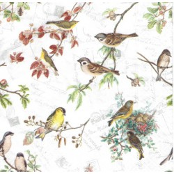 ***serwetka 33x33 Z74 rodzina ptaszków