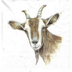 ***serwetka 33x33 Z71 malowana koza