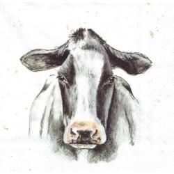 ***serwetka 33x33 Z70 malowana krowa
