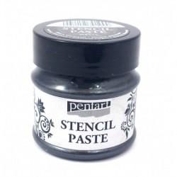 *** pentart pasta do szablonów 50ml czarny diament