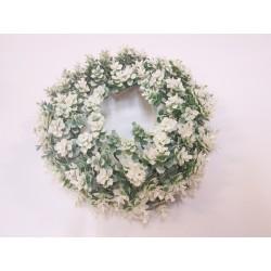 wianek 20cm białe kwiatuszki
