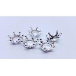 sz.metal korona 0,6*1,2*0,6cm/op 5szt srebro