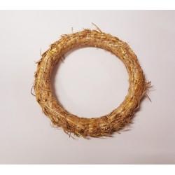 wianek słomiany śr.30cm naturany
