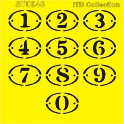 ***szablon 16*16cm cyfry ST0045A