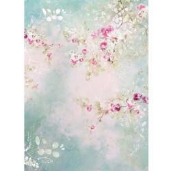 ***papier ryżowy A-3 R515L kwiaty akwarelka