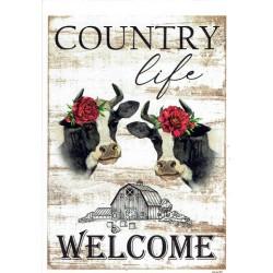 ***papier cienki A-6 5457 krówki country life welc