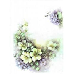 ***papier ryżowy A-5 1439 malowane kwiaty