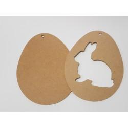 jajko z królikiem dwuczęściowe 23*16,6cm