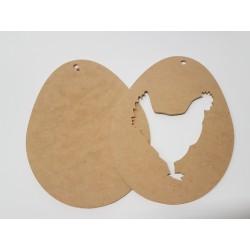 jajko z kurą dwuczęściowe 23*16,6cm