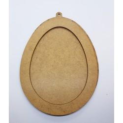 jajko ramka dwuczęściowa 15x11,5cm HDF