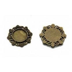 baza medalion metalowa 15mm/2szt