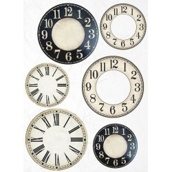 papier ryżowy A-3 R649L zegary kremowo-c