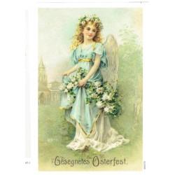 ***papier ryżowy A-6 2372 anioł z kwiatami