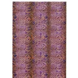 ***papier cienki A-4 9273-CA tło fioletowe kwiaty