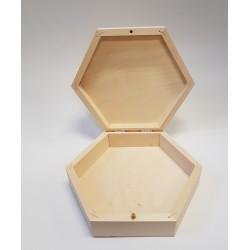 pudełko sześciokątne 19*16,5*5cm