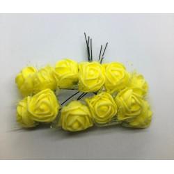 kwiat pianka z siatką 2,5cm zółty pęczek