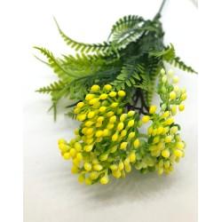 kwiatki żółte drobne  z paprocią