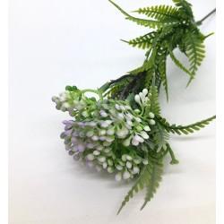 kwiatki wrzosowe drobne z paprocią