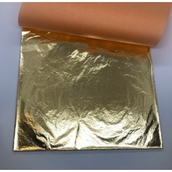 folia 14*14 cm szlagmetal złoto 50 arkuszy