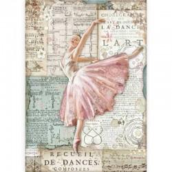 papier ryżowy A-4 DFSA4543 baletnica