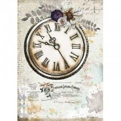 papier ryżowy A-4 DFSA4555 romatyczny zegar