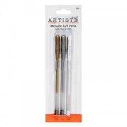 długopisy żelowe metaliczne