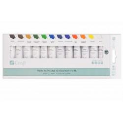 farby akrylowe 12-kol