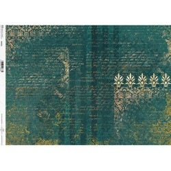 papier ryżowy A-4 R1592 tło szmaragd-pis
