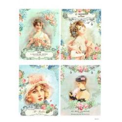 papier cienki A-4 1871 ramki damy
