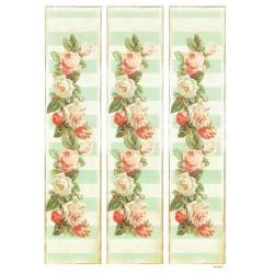 ***papier cienki A-4 1299 paski róże