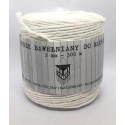 sznurek bawełniany makrama śr.2mm