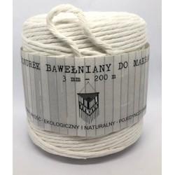 sznurek bawełniany makrama śr.3mm